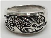 GENT'S DRAGON SILVER RING